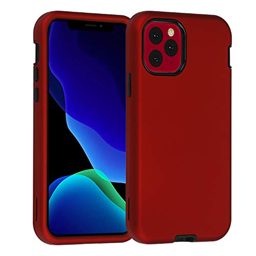 smartelf for iPhone 11 Pro Max Case Heavy Duty Shockproof Drop Protection Scratch-Resistant Dual Layer Protective Hard Cover for iPhone 11 Pro Max 6.5 inch(2019),Red