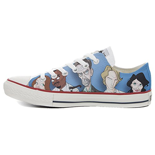 Converse All Star zapatos personalizados Unisex (Producto HANDMADE) Slim Comics Dott. House