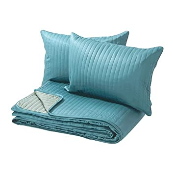 IKEA Karit   Couvre lit et 2 housses de coussin, turquoise