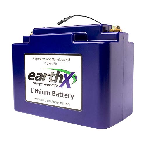 (EarthX ETX680C Eco-Friendly Lithium Motorcycle Battery with Built-in Battery Management System)