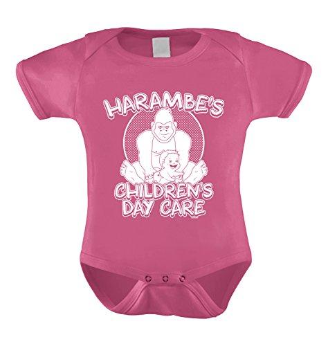 [Harambe's Children Daycare Bodysuit (12 Months, PINK)] (Pink Gorilla Suit)