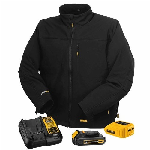 DEWALT DCHJ060C1-L 20V/12V MAX Black Heated Jacket Kit, Large (Heated Jacket)