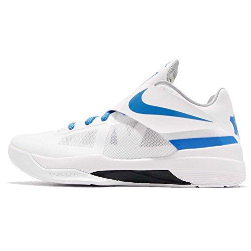 Nike Men's KD 4 QS Thunderstruck, White/Photo Blue-Wolf Grey-Black, 10.5 M US