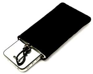 """""""Desire"""" Negro, Auténtico estuche de tacto suave para Motorola ROKR W6. Lujosa Funda / Estuche / Carcasa / Cubierta con forro de fibra para teléfonos móvil."""
