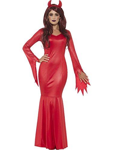 Saint And Sinners Costume (Smiffy's Women's Devil Mistress Costume, Red, Medium)