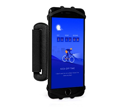 Cellphone Armband Fits 4 6.2inch iPhone Samsung 180° Rotatable for Running Cycling Jogging Sports Wristband