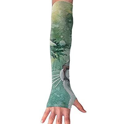 Painting Cat 1 Pair UV Sleeves Sun Sleeves Cooling UV Protection Arm Sleeves Ability For Outdoors Sports Fit Unisex Use To Soccer Cycling