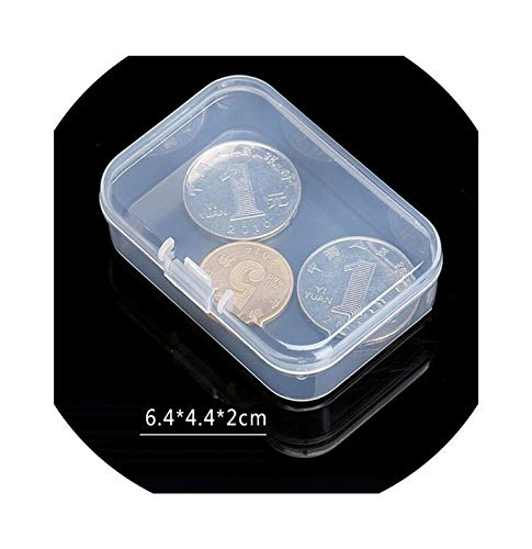 (Fairly decorative-boxes 21 Sizes Clear Lidded Small Plastic Box for Trifles Parts Tools Storage Box Jewelry Display Box Screw Case Beads Container New,6.4x4.4x2cm)