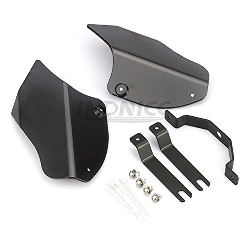 Motorcycle Air Deflector for softail fatboy Reflective Saddle Shields Air Heat Deflector for Harley Softail 2000-2016 Black