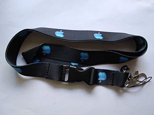 1 Pc Blue Apple Lanyard Keychain Holder -