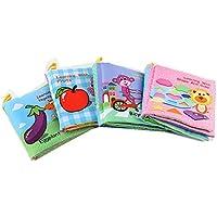4 Pcs Set Baby Kids Intelligence Development Cloth Books Bed Cognize Educational Toys 0-24 months
