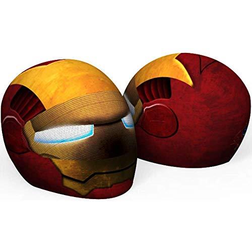 SkullSkins Iron Man Head Universal Full Face Motorcycle Helmet Cover Skin