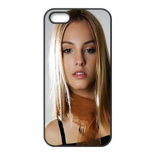 Girl Blonde Face Eyes Hair 69434 coque iPhone 4 4S cellulaire cas coque de téléphone cas téléphone cellulaire noir couvercle EEEXLKNBC25282