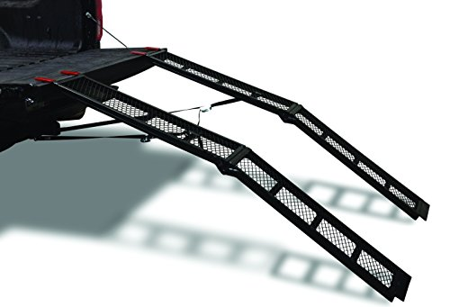 Yutrax 79-inch Folding Steel Truck, UTV/ATV Loading Arch Ramps - Pair, 1500lb Capacity