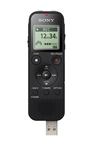 Sony ICD-PX470 Stereo Digital Voice Recorder with Built-in USB Voice Recorder (Best Portable Audio Recorder For Music)