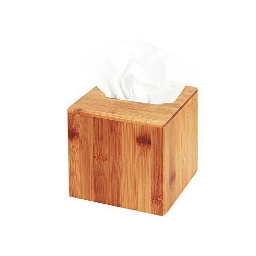 JackCubeDesign Bamboo Square Tissue Box Cover Holder Case Kleenex Cover Holder Box Napkin Holder Organizer Stand(Set of 1, 5.67 x 5.67 x 5.67inches )-:MK273A