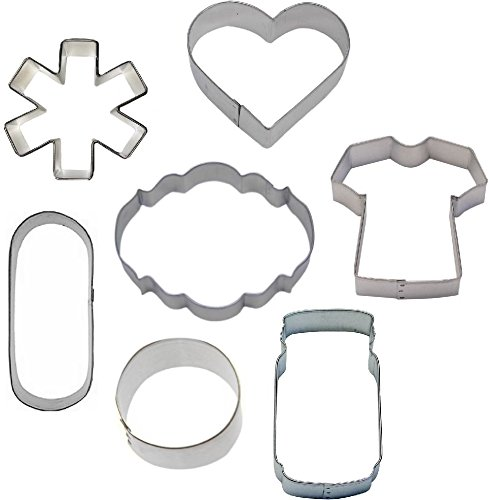 7 Piece Medical Cookie Cutter Set Nurse Doctor Get Well by cookiecuttershop