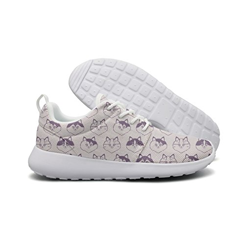 c3c0646c59a04 Hoohle Sports Cute Cat Face Heads Pink Background Womens Roshe One Flex  Mesh Casual Shoes For Men