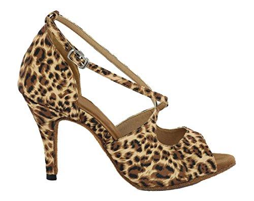 TDA - salón mujer Satin leopard Brown