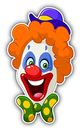 Clown Face Funny Cartoon Sticker Decal Design 3