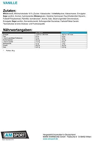 AM Sport - High Protein Bar +50% - 24 x 50g Riegel Vanille