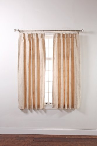 Stylemaster Tucson Thermal Insulate Pinch Pleat Drapes, 48 by 63-Inch, Beige