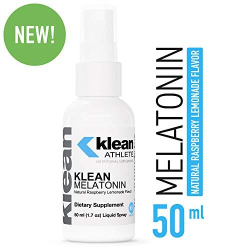 Klean Athlete - Klean Melatonin - Sleep Supplement to Support Healthy Sleep-Wake Cycles, and Exercise Recovery* - Raspberry Lemonade Flavor - 50 ml (1.7 oz) Liquid Spray