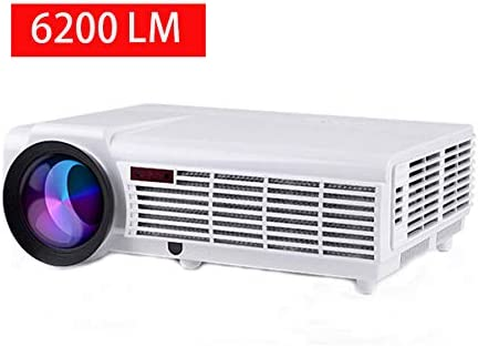 Gzunelic Video Projector, 6200 Lumens Full HD LCD Projector Home Theater LED LCD Proyector, Business PPT Presentations 1080P Projector, Compatible ...