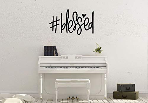 Yilooom Blessed, Hashtag, Family, Love, Faith, Wall Art, Decal, Vinyl Sticker ()