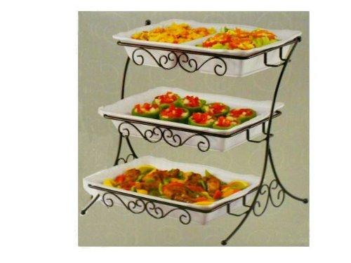 buy special kitchen housewares adjustable 3 tier buffet server rh hk94 com 3 tier buffet server creativeware 3 tier buffet server canada