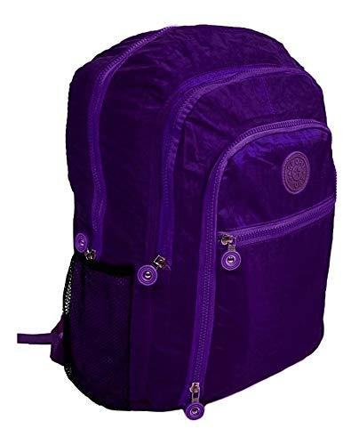 Mochila Feminina Fashion Bag Style Em Crinkle Várias Cores (ROXO)