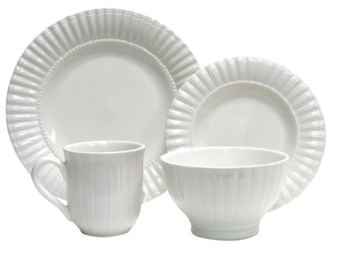 Thomson Pottery 16−pc Masion White Dinnerware Set