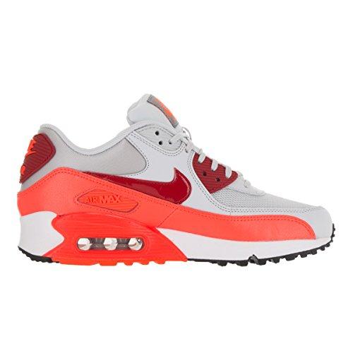 Femmes Nike Air Max 90 Platine Pur Essentielle / Gymnase Pourpre Rouge-totale 12 B (m) Nous