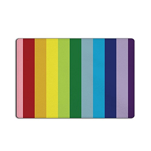 - Libaoge Colorful Stripes Ethnic Bright Rainbow Art Print Non-Slip Rugs Carpets Alfombra Entrance Doormat (18x30, Color 9)