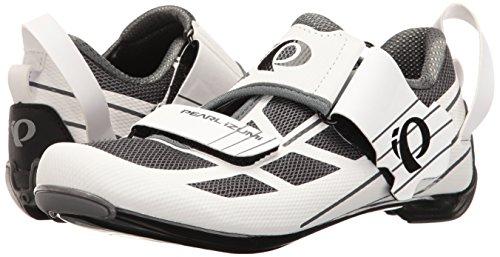 Pearl iZUMi Women's W Tri Fly Select V6 Cycling Shoe, White/Shadow Grey, 42 EU/10 B US by Pearl iZUMi (Image #6)