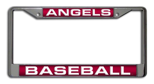 MLB Los Angeles Angels Laser Chrome License Plate Frame