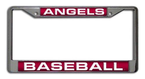 MLB Los Angeles Angels Laser Chrome License Plate Frame - Mlb Baseball License Plate Plates