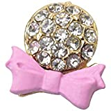 Pink bow with Bling Rhinestone Home Button Sticker for iPhone,iPad,iPod