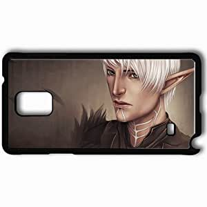 Personalized Samsung Note 4 Cell phone Case/Cover Skin Art Fenris Warrior Elf Stigma Feathers Black