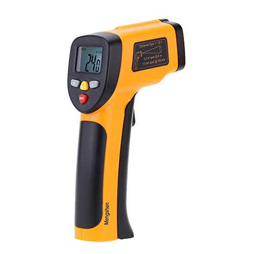 Mengshen High Precision Non-contact IR Digital Infrared Thermometer Temperature Gun Tester Pyrometer Laser Point Range -50 to 650°C(-58 to 1202°F) MS-M816