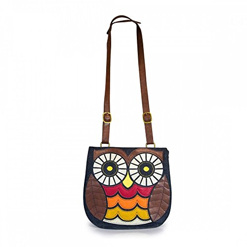 Owl Messenger Bag Loungefly Crossbody Satchel Denim Large tqAfq0xzWw