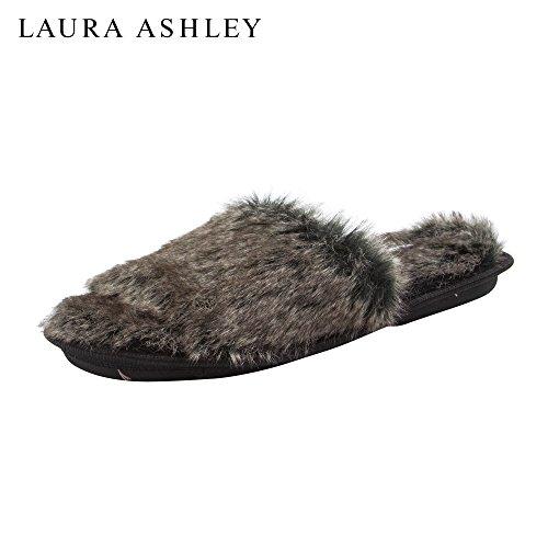 Zapatillas De Afeitar De Felpa De Piel Sintética Para Mujer Laura Ashley (ver Más Colores Y Tamaños) Negro