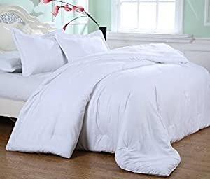 Affluence Luxury Microfiber Comforter (King, Stark White)