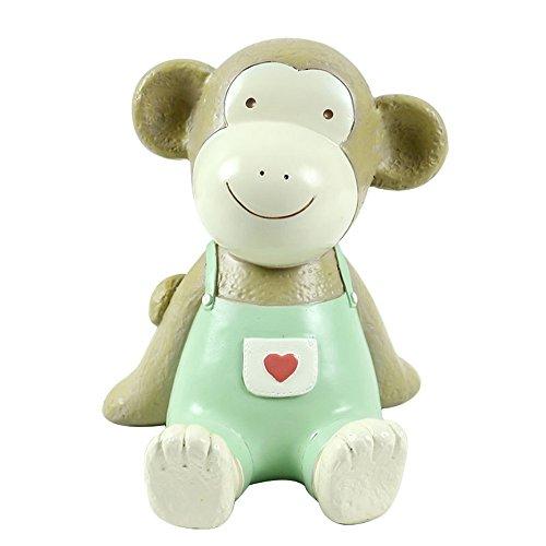 (CHOOLD Cute Cartoon Monkey Piggy Bank Coin Bank Resin Animal Money Bank Saving Pot for Kids Birthday Christmas Gift Home Decor)