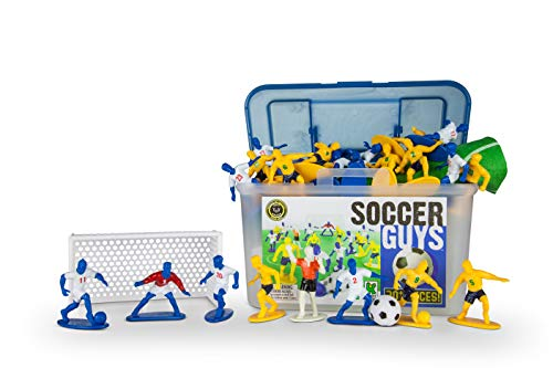 Kaskey Kids Soccer Guys Inspires Imagination with Endless Hours of Creative, Open-Ended Play - Includes 2 Full Teams (Best Professional Soccer Players)