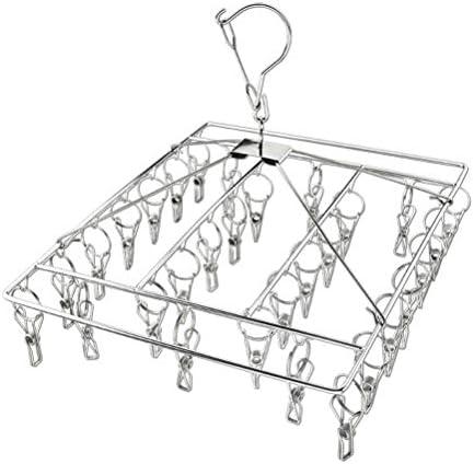 Keemov 30 Clips Rvs Wasknijpers Droogrek Sok Hanger Winddicht Pinnen voor Waslijn Outdoor Indoor
