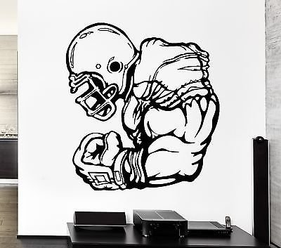 Wall Decal Football Player Athlete Sport Game Rugby Vinyl Stickers VS277