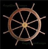 Teak Wooden Ships Steering Wheel 47'' Helm Nautical Boat Maritime Decor