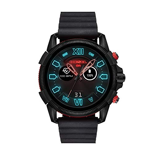 06933e1950 Diesel Men's Stainless Steel Touchscreen Watch with Silicone Band Strap,  Black, 24 (Model