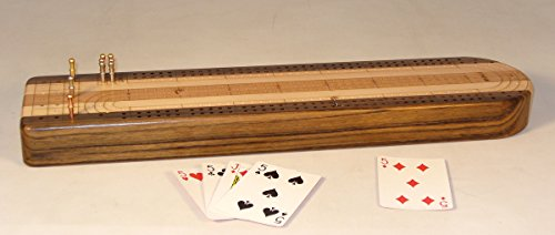 Solid Wood 3 Track Cribbage Board by Worldwise Imports